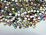 ガラス製 全色ミックス ラインストーン スワロフスキー(サイズ選択可能)【ラインストーン77】 (SS30(約100粒))