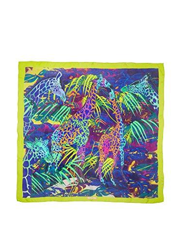 Salvatore Ferragamo Women's Silk Scarf, Green Multi