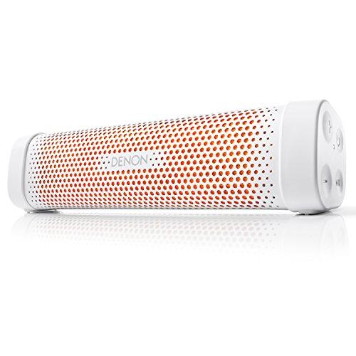 Denon ポータブル Bluetoothスピーカー Envaya Mini [ ホワイト&オレンジ ] DSB-100