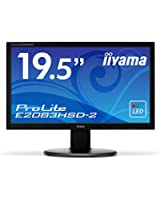 iiyama HD+(1600x900)モード対応 WLEDバックライト19.5型ワイド液晶ディスプレイ E2083HSD-B2