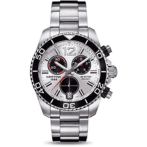 Certina Men's DS Action 42.5mm Steel Bracelet & Case Quartz Silver-Tone Dial Watch C013.417.11.037.00