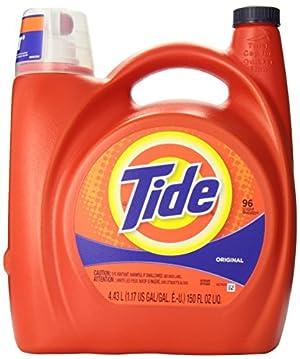 Tide 23064 Original Scent Liquid Laundry Detergent, 150 Ounces