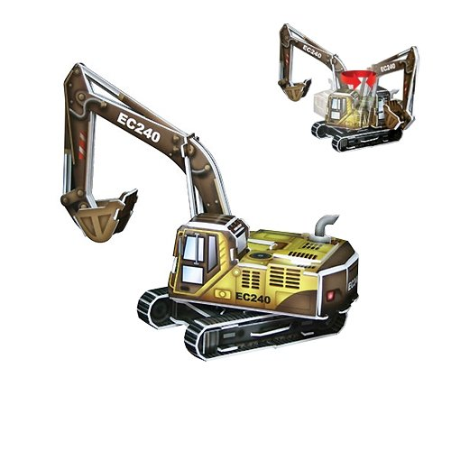 Jigsaw 3D Puzzle Transportation Series - Excavator - 1