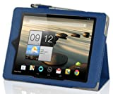 IVSO? Acer Iconia A1-810 7.9-Inch Slim-BOOK PU Leather Stand Cover Case (Blue)