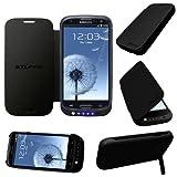 Stuff4® Samsung Galaxy S3 / SIII Negro Carcasa Funda con Bateria Integrada - Externa Cargador