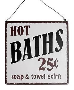 Hot Baths Americana Style Wall Sign