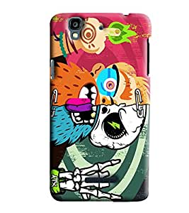 Blue Throat Zombie In Color Printed Designer Back Cover/ Case For Micromax Yu Yureka