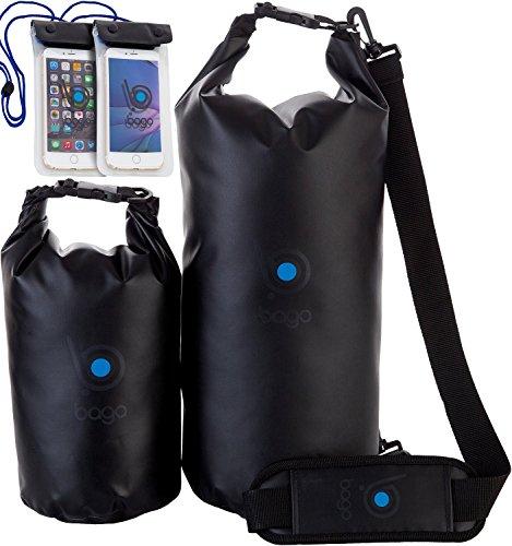 bago-wasserdichte-packsacke-wasserdichter-sack-mit-klarsichtfenster-und-handy-schutzhulle15lschwarz