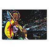 bluegape Jimi Hendrix Playing Guitar Poster