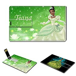 16GB USB Flash Drive USB 2.0 Memory PRINCESS TIANA Disney Credit Card Size Customized Support Services Ready Fictional Character Walt Disney Pictures Photo The Princess And The Frog Tinkerbell Costume Fairy Princess Animated Musical Fantasy Comedy