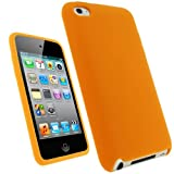 IGadgitz Orange Silicone Skin Case Cover for Apple iPod Touch 4th Generation 8gb, 32gb, 64gb + Screen Protector