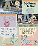 Mo Willems Set of 6 Paperback Books Includes Knuffle Bunny: A Cautionary Tale, Elephant & Piggie: My Friend Is Sad, Knuffle Bunny Too: A Case of Mistaken Identity, the Pigeon Finds a Hot Dog, the Pigeon Wants a Puppy!, I Love My New Toy!