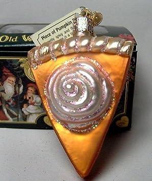 #!Cheap Old World Christmas Piece of Pumpkin Pie Ornament