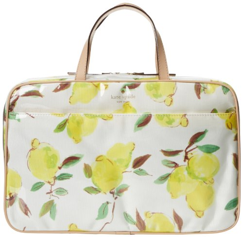 kate spade new york Limoncello Bouquet Large Manuela Cosmetic Case,Lemons,One Size