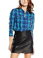 Lee Camisa Mujer Slim Western Dark Indigo (Azul)
