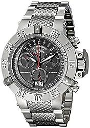 Invicta Mens 17611 Subaqua Analog Display Swiss Quartz Silver Watch