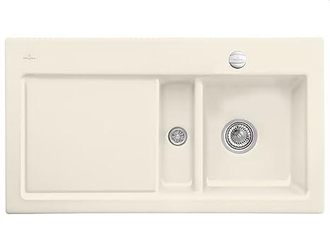 Villeroy Boch Subway 50 &Beige Ivory Kitchen Sinks Inset Ceramic Sink