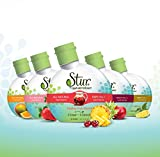 Stur ALL-NATURAL Stevia Water Enhancer - Variety PACK (5pck). ......makes 100 8oz. servings - drink mix. Non-GMO, natural fruit flavor, natural stevia leaf extract, sugar-free, calorie-free, preservative-free, 100% Vitamin C, liquid stevia drops. **Family Business, Happiness Guaranteed**