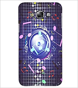 PrintDhaba Staff Notations D-3904 Back Case Cover for SAMSUNG GALAXY E7 (Multi-Coloured)