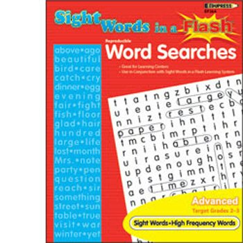 Sight Words in a Flash Word Searches Grade 2-3