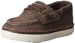 Sperry Top-Sider Cruz JR Boat Shoe (Toddler/Little Kid),Brown Leather,7 M US Toddler