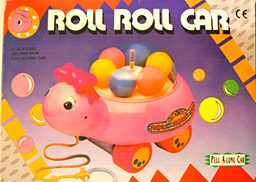 Roll Roll Pull Behind Toy - Pink - 1