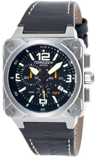 Torgoen Swiss Men's T27104 T27 Chronograph Stainless-Steel Aviation Watch