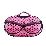 Plural Portable Organizer Case Bag For Underwear Lingerie Bra Protect Eva Women Lady Protect Bra Lingerie Organizer Storage Bag Case Portable Lingerie Crush Proof Travel Storage Bag(Random Color)