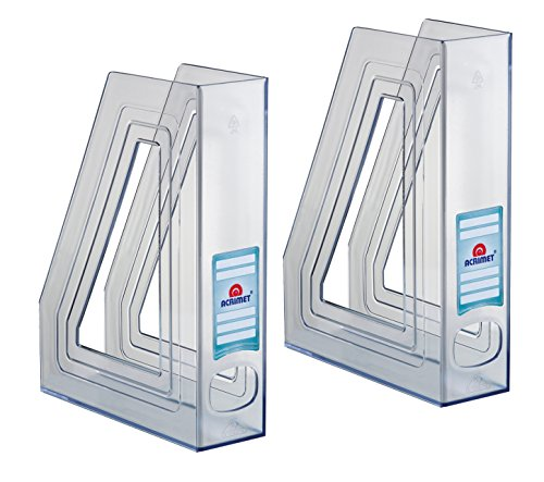 Acrimet Magazine File Holder (Crystal Color) (2 - Pack)