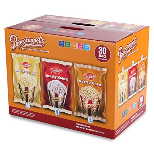 Popcornopolis Gourmet Popcorn Single Serving Variety Pack, 25 Ounce Box (Popped Popcorn Variety Pack compare prices)