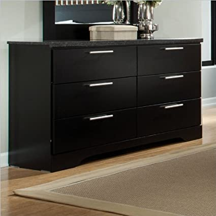 Standard Furniture Atlanta 6 Drawer Dresser in Black