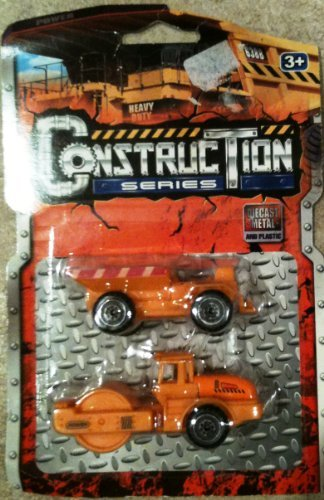 Heavy Duty ConstrucTion Series-Diecast Metal& Plastic-Dump & Roller Trucks - 1