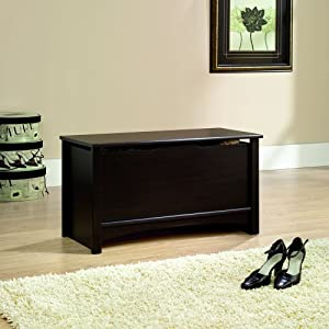 Sauder Shoal Creek Storage Chest in Jamocha Wood Finish