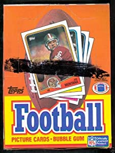 1988 Topps Un-opened NFL Football Wax Box with 36 Sealed Packs (15 Cards Per Pack)....