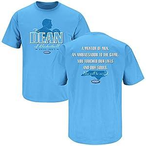 North Carolina Tarheels Fans. The Dean of Basketball. Dean Smith Tribute Blue T-Shirt (S-5X)