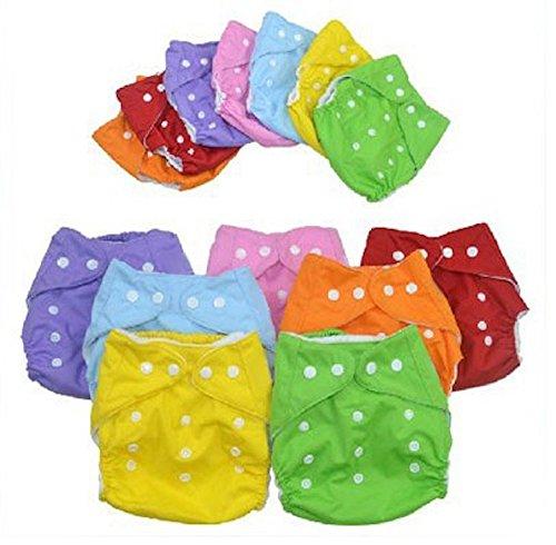 メッシュ素材 7色セット おむつカバー サイズ調整可