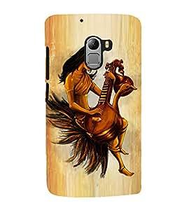 Fuson Premium Back Case Cover Goddess saraswathi With Multi Background Degined For Lenovo K4 Note
