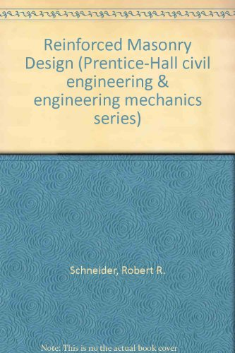 Image for Reinforced Masonry Design (Prentice-Hall civil engineering & engineering mechanics series)