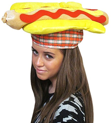 Hot Dog Hat - Bright Hot Dog Hat For Costume