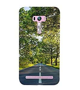 Road 3D Hard Polycarbonate Designer Back Case Cover for Asus Zenfone Selfie ZD551KL