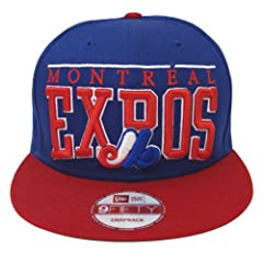 Montreal Expos New Era LE Arch Retro Snapback Cap Hat Blue Red
