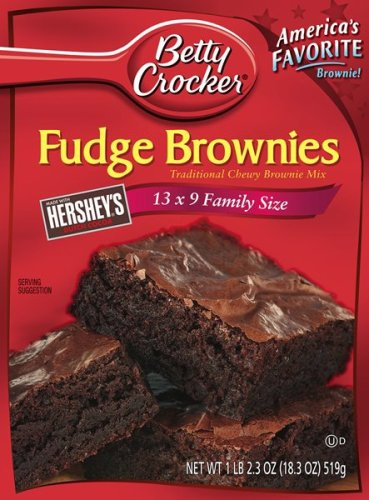 Buy Betty Crocker Traditional Brownie Mix, Family Fudge, 18.3-Ounce Box (Pack of 12)