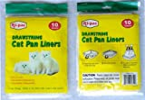 60 pieces drawstring cat pan liner for litter waste scoop disposal