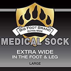 Extra Wide Medical Diabetic Socks for Men Big Foot Brand Superior Stretch Foot Ankle Calf (26 ) for Normal & Wide Feet Swollen Painful Stand All Day Antimicrobial by Oxley Health (12-16 White)