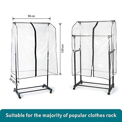 Tatkraft transparent smart cover 35x23x47 inch clothes for Housse de portant