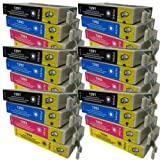 24 CiberDirect High Capacity Compatible Ink Cartridges for use with Epson WorkForce WF-3540DTWF Printers.