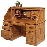 Solid Wood Roll Top Desk by Haugen Furniture