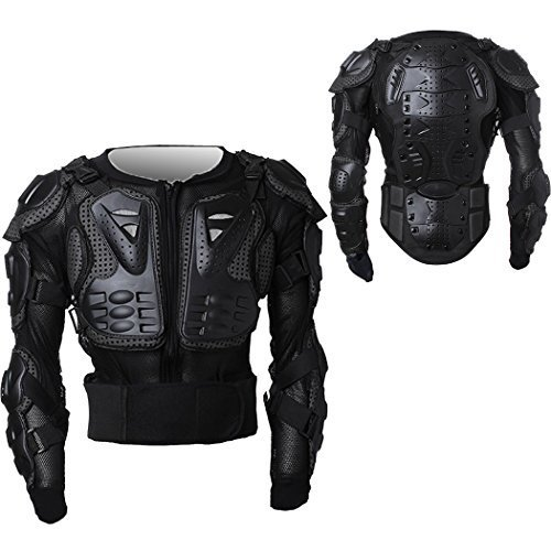 WOLFBIKE Black Practical Body Armour Motorcross Motorcycle Mountain Cycling Skating Snowboarding spine Protector Guard Popular Jacket (Small) by WOLFBIKE