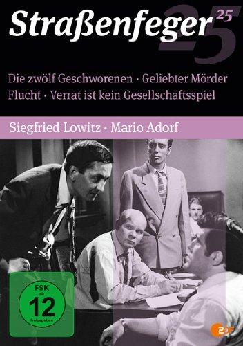 Straßenfeger 25 - Die zwölf Geschworenen / Geliebter Mörder / Flucht / Verrat [4 DVDs]