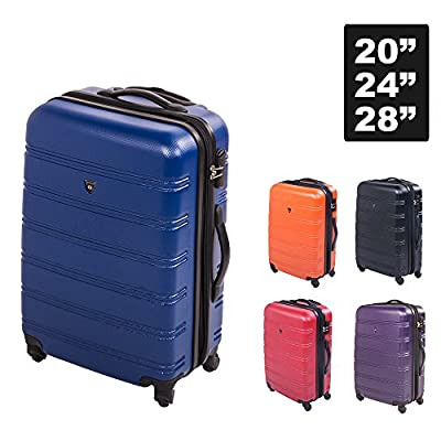 Travelhouse Super Lightweight Expandable Hard Shell ABS 4 Wheel Spinner Suitcase Travel Luggage Bag Case